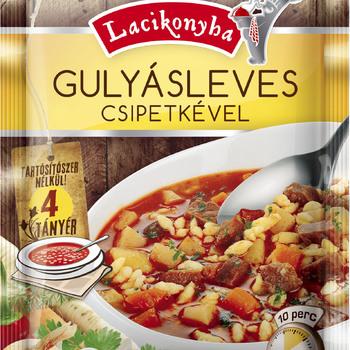 Gulyásleves-- goulasch Soupe avec nouilles