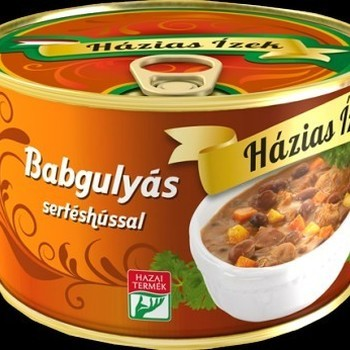 Babgulyás sertéshússal 400g--Goulash aux haricots 400 g